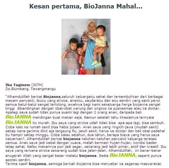 Testimonial Biojanna 4